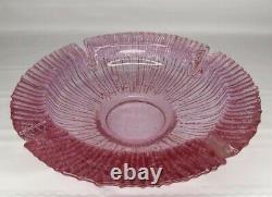 Vintage Blenko Handcraft Heavy Glass Ashtray, 9, Rare Rose/ Pink Color