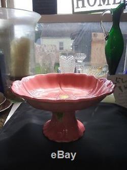 Vintage Desert Rose Franciscan Compote Pedestal Candy Fruit Dessert Dish Rare