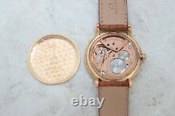 Vintage OMEGA Mechanical Cal. 28 Rare 18k Rose Gold case 36mm for Mens