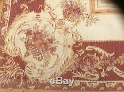 Vintage RARE large Laura Ashley Rose Print barouque rug 160cm x 235cm