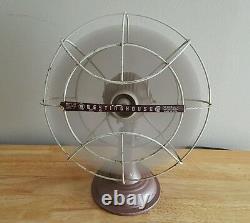 Vintage Rare Westinghouse Misty Rose Fan Runs Original Art Deco Clean