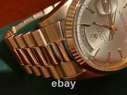 Vintage Rolex Day-Date President Solid Rose Gold Ultra Rare Special Edition