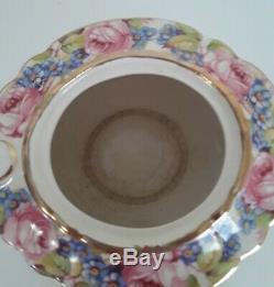 Vintage SADLER Pink Roses Teapot Gold Trim England #2028 1930s-1950 RARE Flowers