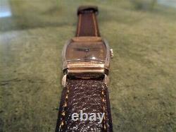 Vintage Ultra Rare Gruen Curvex Cal. 330 10K Rose GF Watch Excellent Condition