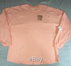 Walt Disney World Rose Gold Spirit Jersey Sweatshirt XXL Discontinued Rare Top
