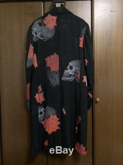 Yohji Yamamoto Pour Homme Skull Rose Long Coat Men Jacket Medium 2 Japan Rare