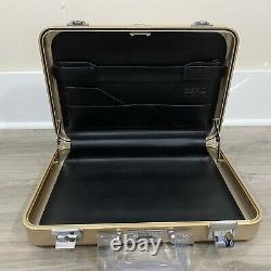 ZERO HALLIBURTON Aluminum Metal Briefcase Vintage RARE ROSE GOLD 16.5 X 11 X 3.5